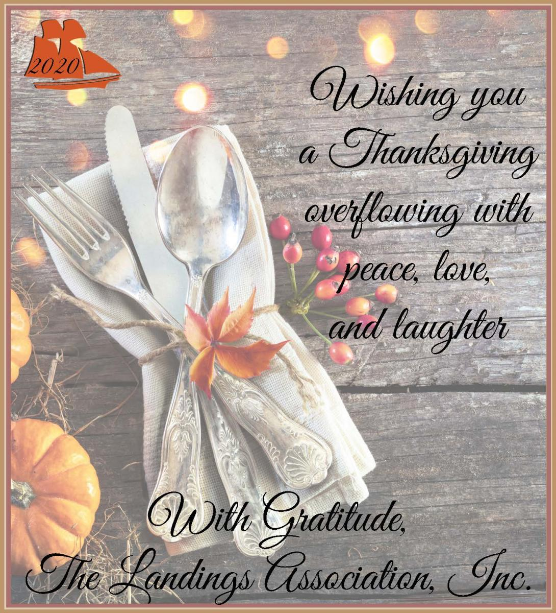 Happy Thanksgiving From The Landings Association Skidaway Times